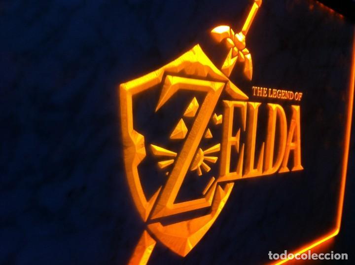 CARTEL LUMINOSO ZELDA THE LEGEND OF LINK OCARINA VIDEOJUEGO GAME BOY TRIFORCE SEGA PS1 PS2 COLOR WII (Juguetes - Videojuegos y Consolas - Nintendo - GameBoy)