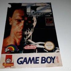 Videojuegos y Consolas: ANTIGUO POSTER PROMOCIONAL DE MATUTANO JUEGO GAME BOY NINTENDO TERMINATOR 2 AÑOS 90. Lote 132592646