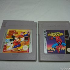Videojuegos y Consolas: MICKEY'S DANGEROUS CHASE + THE AMAZING SPIDERMAN - NINTENDO GAMEBOY GAME BOY. Lote 139481028