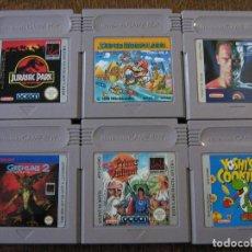 Videojuegos y Consolas: LOTE NINTENDO GAME BOY X 6: PRINCE VALIANT, GREMLINS, JURASSIC PARK, MARIO LAND, YOSHI'S COOKIE, T2. Lote 139930154