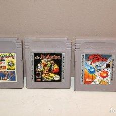Videojuegos y Consolas: GAMEBOY LOTE DE 3 JUEGOS BARATOS ESPAÑOLES. Lote 141593450