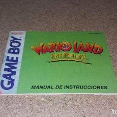 Videojogos e Consolas: MANUAL DE INSTRUCCIONES GAME BOY SUPER MARIO LAND 3. Lote 142023226