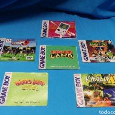 Videojuegos y Consolas: MANUALES DE INSTRUCCIONES PARA JUAGIS GAME BOY. WARIO. DONKEY. SOCCER. RALLY. TUROK Y CLASSIC. Lote 142577832