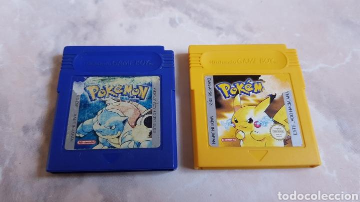 LOTE 2 JUEGOS NINTENDO GAMEBOY POKEMON AZUL Y AMARILLO (Juguetes - Videojuegos y Consolas - Nintendo - GameBoy)