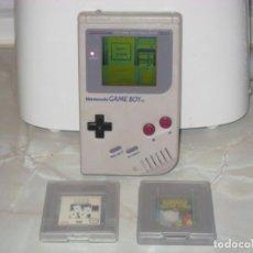 Videojuegos y Consolas: NINTENDO GAME BOY TM 1989 (FUNCIONA) + 3 JUEGOS. Lote 146773678