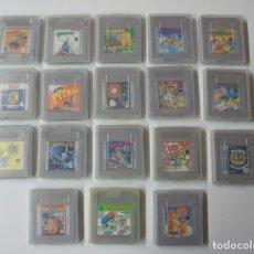 Videojuegos y Consolas: LOTE DE 18 JUEGOS DE NINTENDO GAME BOY CON CAJA Y BOLSA PARA LLEVARLOS.. Lote 147032678