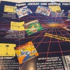 Videojuegos y Consolas: GAME BOY NINTENDO AHORA JUEGAS CON ENERGÍA PORTATIL PUBLICIDAD SUPER MARIO LAND QIX TENNIS GOLF. Lote 173625417
