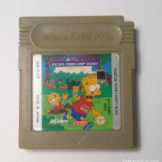 Videojuegos y Consolas: BART SIMPSON'S ESCAPE FROM CAMP DEADLY - NINTENDO GAME BOY. Lote 150432078