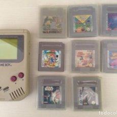 Videojuegos y Consolas: LOTE DE GAME BOY CONSOLA CON 7 JUEGOS. Lote 155513226
