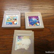 Videojuegos y Consolas: 3 JUEGOS GAMEBOY NINTENDO SUPER MARIO LAND, SUPER MARIO LAND 3 Y TETRIS GAME BOY PAL ESPAÑA . Lote 156763062