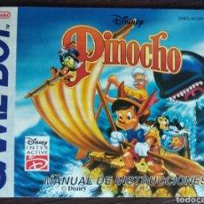 Videojuegos y Consolas: INSTRUCCIONES JUEGO PINOCHO GAME BOY. Lote 157976660