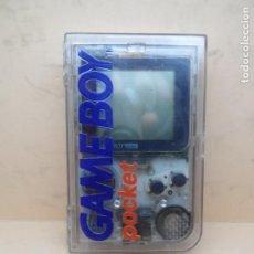Videojuegos y Consolas: CONSOLA GAMEBOY POCKET TRANSPARENTE + CAJA. Lote 159468078