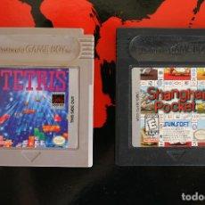 Videojuegos y Consolas: TETRIS Y SHANGAI POCKET NINTENDO GAME BOY LOTE 2 JUEGOS. Lote 163471370