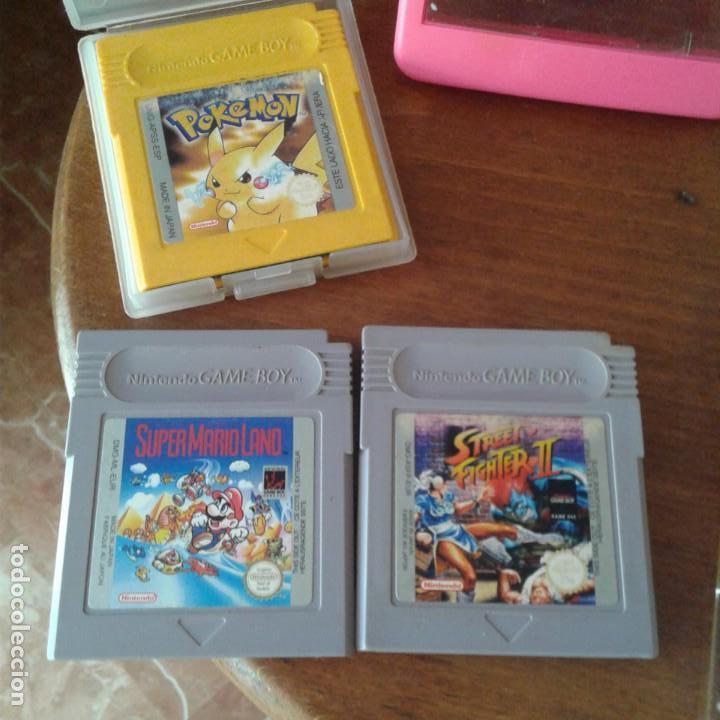 Videojuegos y Consolas: Lote 3 juegos Game Boy, lupa con luz y dos fundas - Foto 11 - 166961449