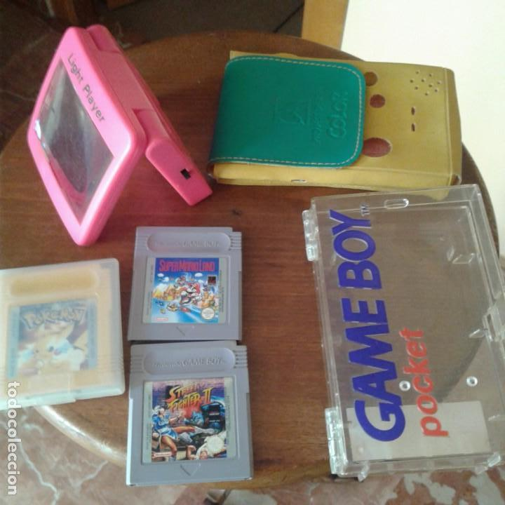 LOTE 3 JUEGOS GAME BOY, LUPA CON LUZ Y DOS FUNDAS (Juguetes - Videojuegos y Consolas - Nintendo - GameBoy)