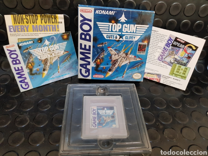 GAME BOY TOP GUN GUTS & GLORY EN CAJA Y CON TODOS LOS DOCUMENTOS, GUÍA, PROPAGANDA... (Juguetes - Videojuegos y Consolas - Nintendo - GameBoy)
