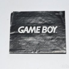 Videojogos e Consolas: NINTENDO GAME BOY DMG-EUR-1 INFORMACIÓN AL CONSUMIDOR Y MANUAL DE PRECAUCIONES Y TARJETA G-CLUB. Lote 171629843