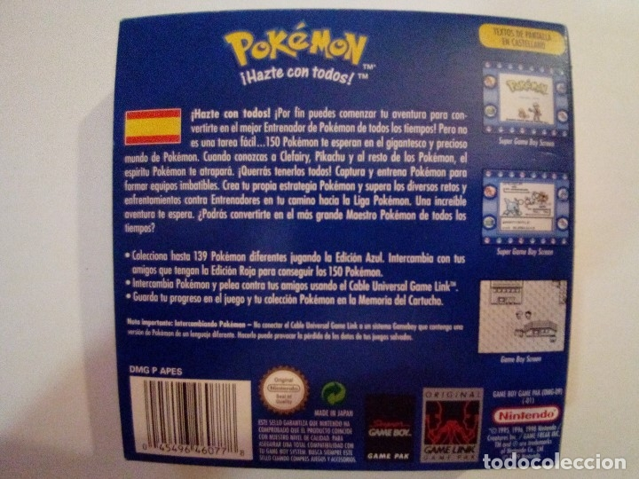 Videojuegos y Consolas: JUEGO GAME BOY-POKEMON EDICION AZUL-FALTAN LAS INSTRUCCIONES - Foto 10 - 173191049