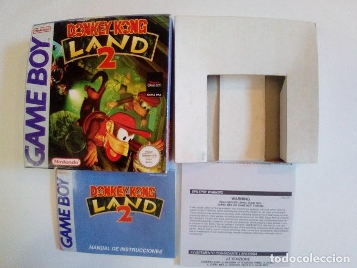Videojuegos y Consolas: CAJA DE JUEGO GAME BOY-DONKEY KONG LAND 2-PALCON INSTRUCCIONES - Foto 7 - 173431737