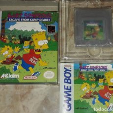 Videojuegos y Consolas: BART SIMPSONS ESCAPE FROM CAMP DEADLY - GAME BOY GB GAMEBOY CON CAJA. Lote 174361458