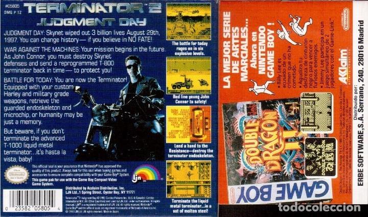 Videojuegos y Consolas: GAME BOY TERMINATOR 2 JUDGMENT DAY (ORIGINAL COMPLETO) - Foto 2 - 68973737