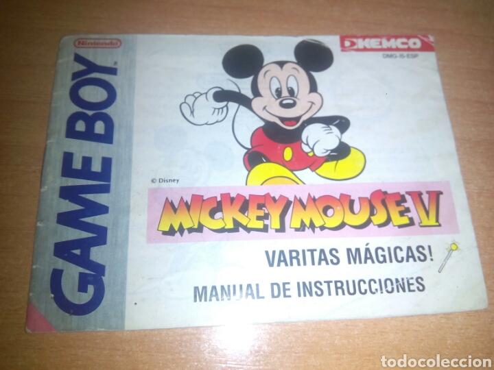 MANUAL MICKEY MOUSE GAMEBOY NINTENDO GAME BOY ESP (Juguetes - Videojuegos y Consolas - Nintendo - GameBoy)