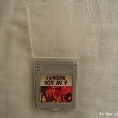 Videojuegos y Consolas: SUPREME 105 IN 1 - 105 JUEGOS DE LA GAME BOY DE NINTENDO . Lote 178036435
