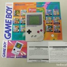 Videojuegos y Consolas: JJ10- CONSOLA & DOCUMENTACIÓN NINTENDO GAME BOY MODEL DMG 01 Nº GH1659251 1989 . Lote 178783822