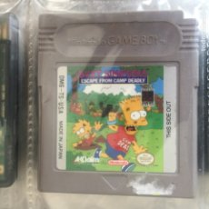 Videojuegos y Consolas: JUEGO GAMEBOY BART SIMPSON SCAPE FROM CAMP DEADLY - USA VERSION - GAME BOY VIDEOJUEGO NINTENDO. Lote 179018320