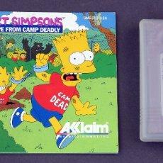 Videojuegos y Consolas: JUEGO BART SIMPSONS ESCAPE FROM CAMP DEADLY NINTENDO GAME BOY JUEGO CAJA INSTRUCCIONES FUNCIONA. Lote 180010180