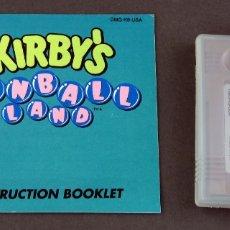 Videojuegos y Consolas: KIRBYS PINBALL LAND NINTENDO GAME BOY JUEGO CAJA INSTRUCCIONES FUNCIONA. Lote 180331880