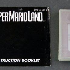 Videojuegos y Consolas: SUPER MARIO LAND NINTENDO GAME BOY JUEGO CAJA INSTRUCCIONES FUNCIONA. Lote 180332088