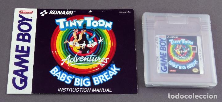 TINY TOON BABS BIG BREAK NINTENDO GAME BOY JUEGO CAJA INSTRUCCIONES FUNCIONA (Juguetes - Videojuegos y Consolas - Nintendo - GameBoy)