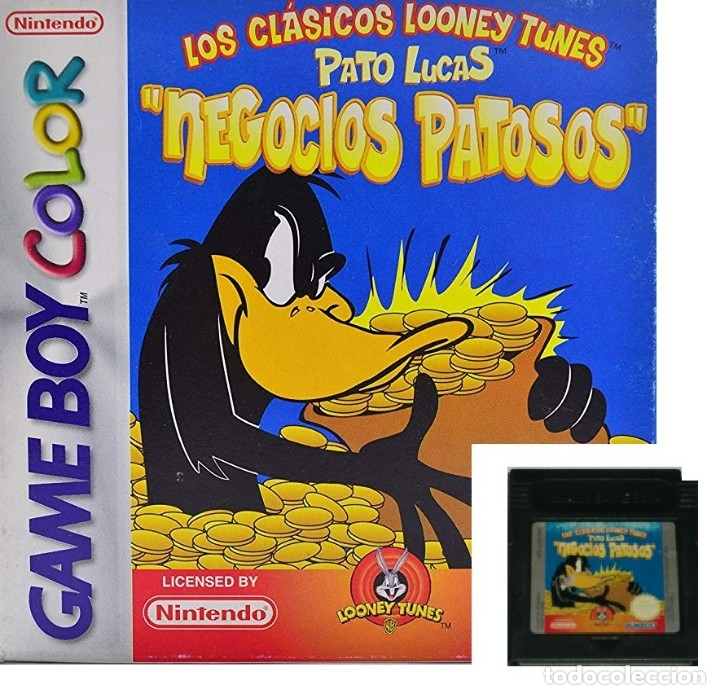 LOTE OFERTA JUEGO NINTENDO GAME BOY - CLASICOS LOONEY TUNES - PATO LUCAS - NEGOCIOS PATOSOS (Juguetes - Videojuegos y Consolas - Nintendo - GameBoy)