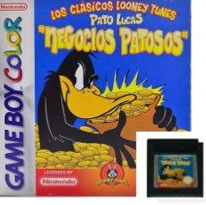 Videojuegos y Consolas: LOTE OFERTA JUEGO NINTENDO GAME BOY - CLASICOS LOONEY TUNES - PATO LUCAS - NEGOCIOS PATOSOS. Lote 181408431