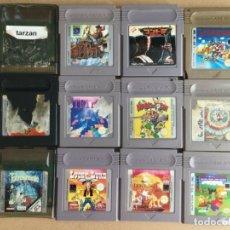 Videojuegos y Consolas: LOTE 12 JUEGOS GAMEBOY & GAMEBOY COLOR - GBC GAME BOY NINTENDO. Lote 181487387