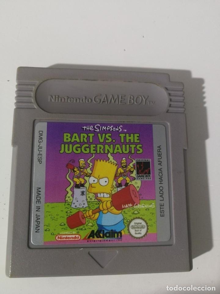 JUEGO-BART V.S.THE JUGGERNAUTS- DMG-UB-ESP (Juguetes - Videojuegos y Consolas - Nintendo - GameBoy)