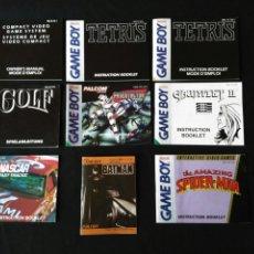 Videojuegos y Consolas: MANUALES DE INSTRUCCIONES GAME BOY EN INGLÉS. Lote 183788631