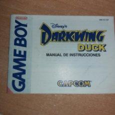 Videojuegos y Consolas: MANUAL DARKWING DUCK GAMEBOY NINTENDO GAMEBOY. Lote 183960292