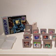 Videojuegos y Consolas: GAME BOY NINTENDO EN CAJA ORIGINAL Y COMPLETA CON LOTE DE 13 JUEGOS. AÑO 1989. GRAN ESTADO. Lote 184051881
