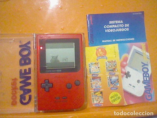 GAME BOY GAMEBOY POCKET EN CAJA FUNCIONANDO BIEN IMAGEN SONIDO LEER (Juguetes - Videojuegos y Consolas - Nintendo - GameBoy)