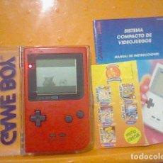 Videojuegos y Consolas: GAME BOY GAMEBOY POCKET EN CAJA FUNCIONANDO BIEN IMAGEN SONIDO LEER . Lote 185720405