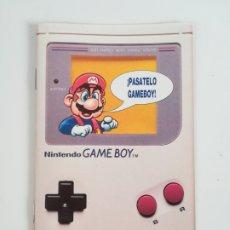 Videojuegos y Consolas: FOLLETO PUBLICIDAD NINTENDO GAME BOY ERBE - CONSOLA VIDEOJUEGO CLUB SUPER MARIO BROS GAMEBOY. Lote 186359123