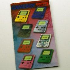 Videojuegos y Consolas: GAMEBOY POCKET - PEQUEÑO FOLLETO PUBLICIDAD JUEGOS - NINTENDO GAME BOY POCKET. Lote 187446067