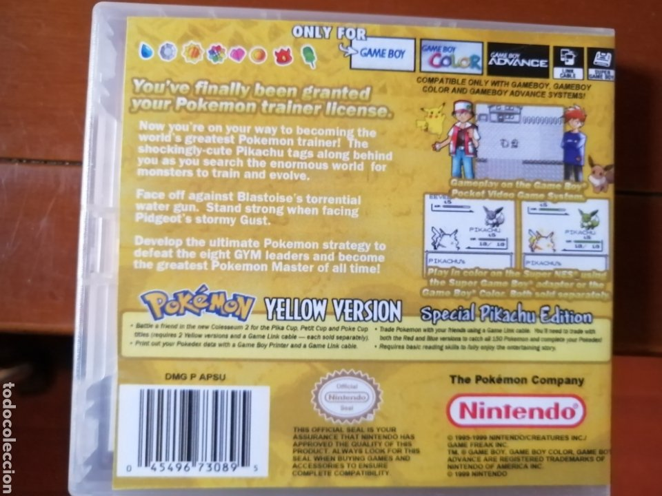 Videojuegos y Consolas: Juego Pokémon Amarillo para Nintendo Gameboy - Foto 2 - 190896396