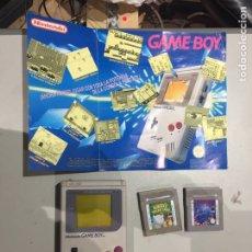 Jeux Vidéo et Consoles: CONSOLA GAME BOY CON MANUAL DE INSTRUCCIONES Y DOS JUEGOS - VER LAS IMÁGENES. Lote 191019307
