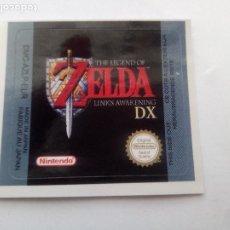 Videojuegos y Consolas: ETIQUETA PEGATINA THE LEGEND OF ZELDA LINKS AWAKENING DX (NEGRA) NINTENDO GAME BOY GAMEBOY. Lote 191346486
