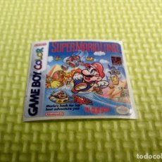 Videojuegos y Consolas: ETIQUETA PEGATINA SUPER MARIO LAND 1 DX NINTENDO GAME BOY GAMEBOY. Lote 191348307