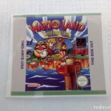 Videojuegos y Consolas: ETIQUETA PEGATINA WARIO LAND 1 NINTENDO GAME BOY GAMEBOY . Lote 191349127