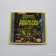 Videojuegos y Consolas: ETIQUETA PEGATINA TORTUGAS NINJA 1 NINTENDO GAME BOY GAMEBOY . Lote 191354068